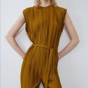 Zara pleated jumpsuit NWT